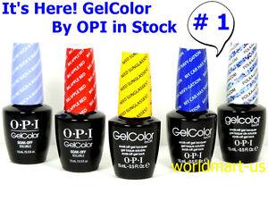 OPI GelColor Soak Off UV/LED Base Top Nail Polish /Choose Any Color * #1