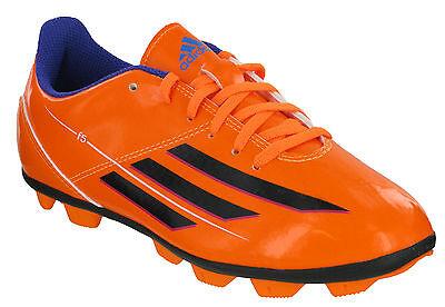 Adidas F5 Trx Hg J Modellato Borchie Ragazzi Arancione Hard Ground Calcio In Stivali- Caldo E Antivento