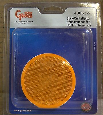 Grote 40073-5 Yellow 2 1//2 Round Stick-On Reflector