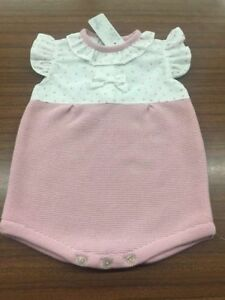 e6294d2aa7bd Image is loading Spanish-Style-Baby-Girl-Pink-Ruffle-Collar-Romper-