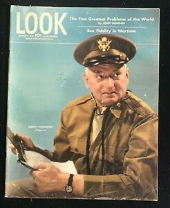 LOOK MAGAZINE - Aug 8 1944 - ARMY SURGEON / Faithfulness in Wartime