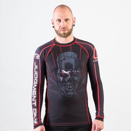 Fusion Fight Gear Terminator Skynet BJJ Rash Guard Compression Shirt