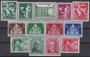 3rd-Reich-13-Rare-1935-1940-Stamps-Complete-Sets-MINT