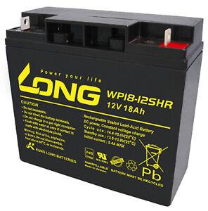 Distingué 12 V 18ah Long Wp18-12 Shr Vds Pelouse Tondeuse 17ah Batterie Agm Gel Plomb Batterie-afficher Le Titre D'origine