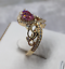 1-50Ct-Heart-Cut-Pink-Sapphire-Crown-Queen-Engagement-Ring-14K-Yellow-Gold-Over thumbnail 4