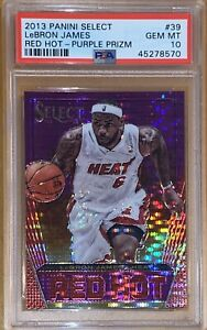2013-LeBron-James-PANINI-SELECT-RED-HOT-PURPLE-PRIZM-PULSAR-39-99-PSA-10-BGS
