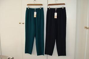 John X 14 Navy Lewis Taglia smeraldo Verde Verde Bnwt Medium 12 Blu Pantaloni Uk e 2 East dZIqdUw