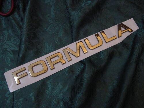 "FORMULA BOAT EMBLEM BADGE GOLD 7 LETTERS 10-5//8/"" LONG X 1-1//16 HIGH car truck"