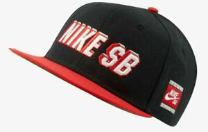 Nike SB Adjustable Snapback Hat Black/Red/Green BV0488-010 Adult Unisex