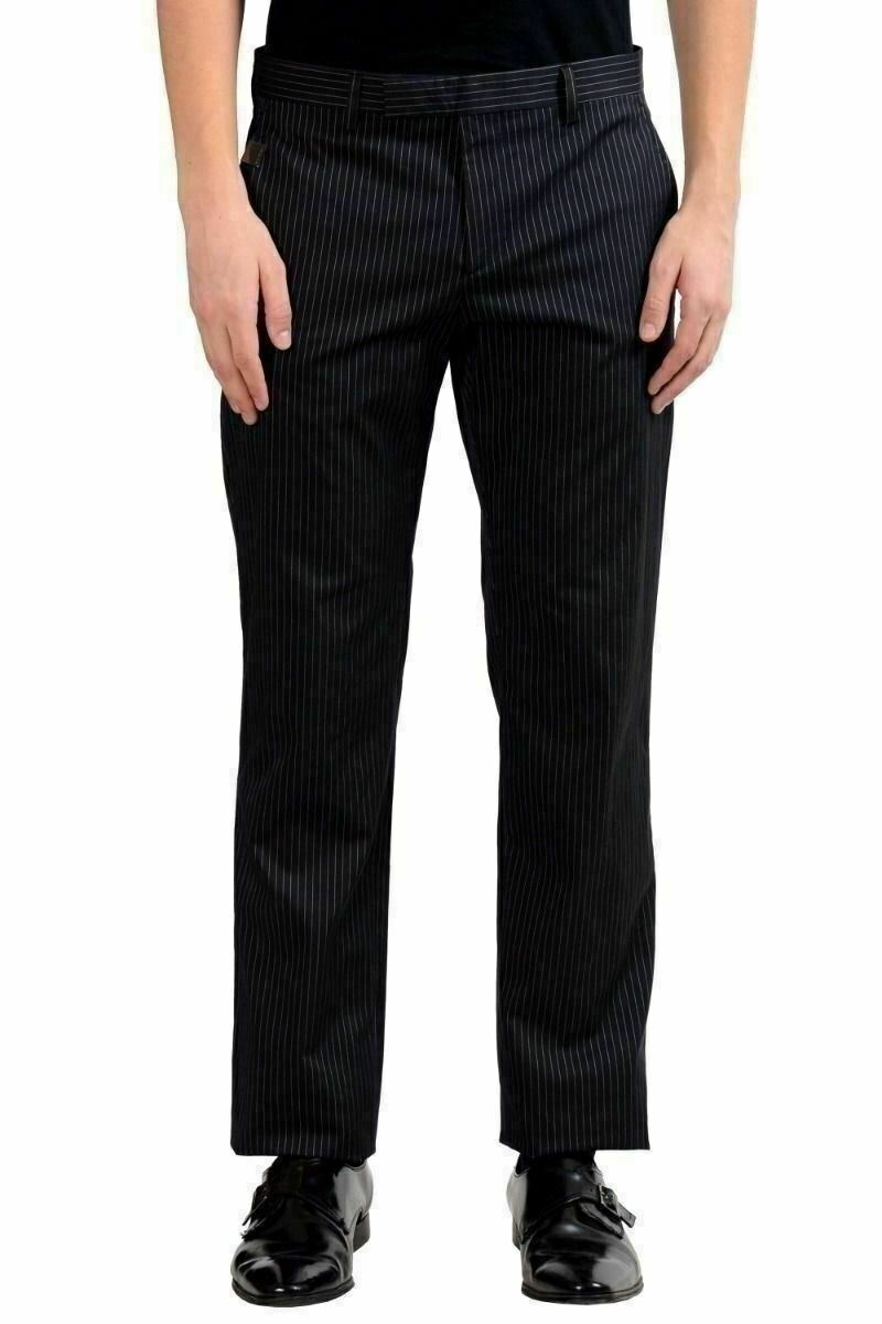 Richmond Men's Striped Stretch Dress Pants US 32 IT 48