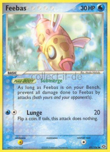 49//106 Feebas ENGLISCH Pokemon EX Emeralo//EX Smaragd