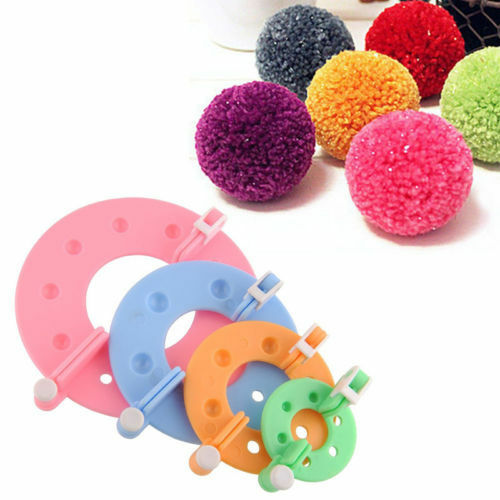 8pcs-4-Sizes-Essential-Pompom-Maker-Fluff-Ball-Weaver-Needle-Knitting-Wool-Tools