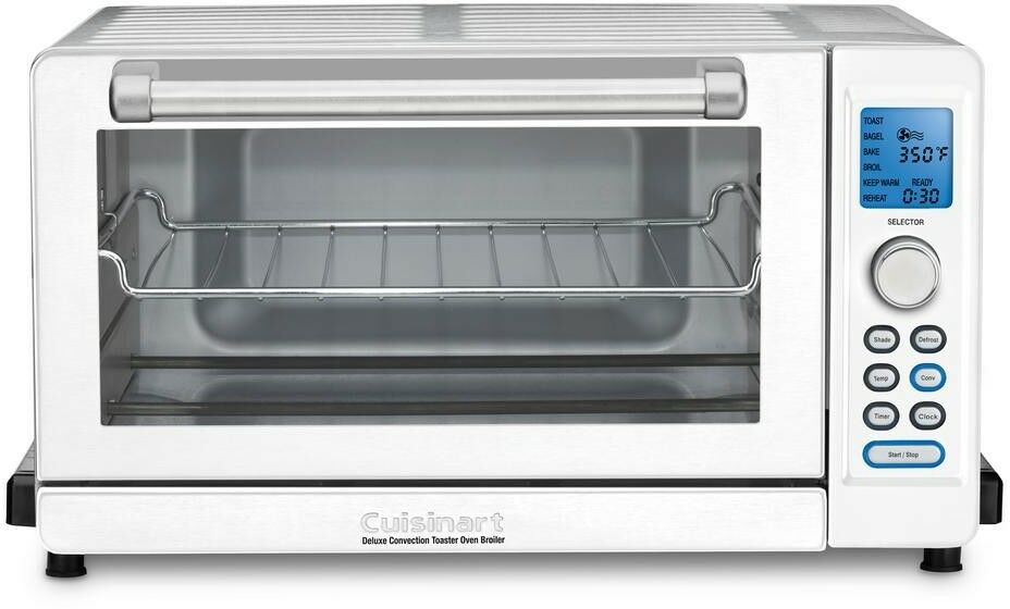Cuisinart Deluxe blanc Convection Toaster Oven Broiler Digital LED Button blanc