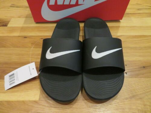 Size 13 Brand New Mens Black /& White Nike Kawa Slide On Sandals