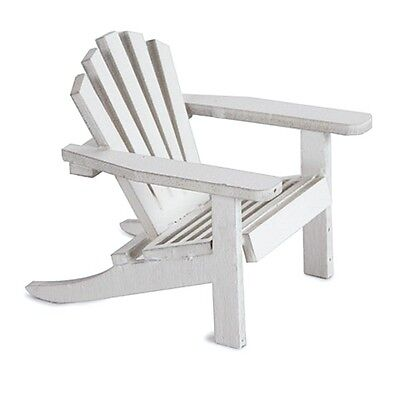 Miniature Dollhouse FAIRY GARDEN Furniture ~ Unfinished Wood Adirondack Chair