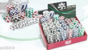Rouleau de 25 jetons World Series of Poker 14g Wsop chips roll valeurs 1 à 5000
