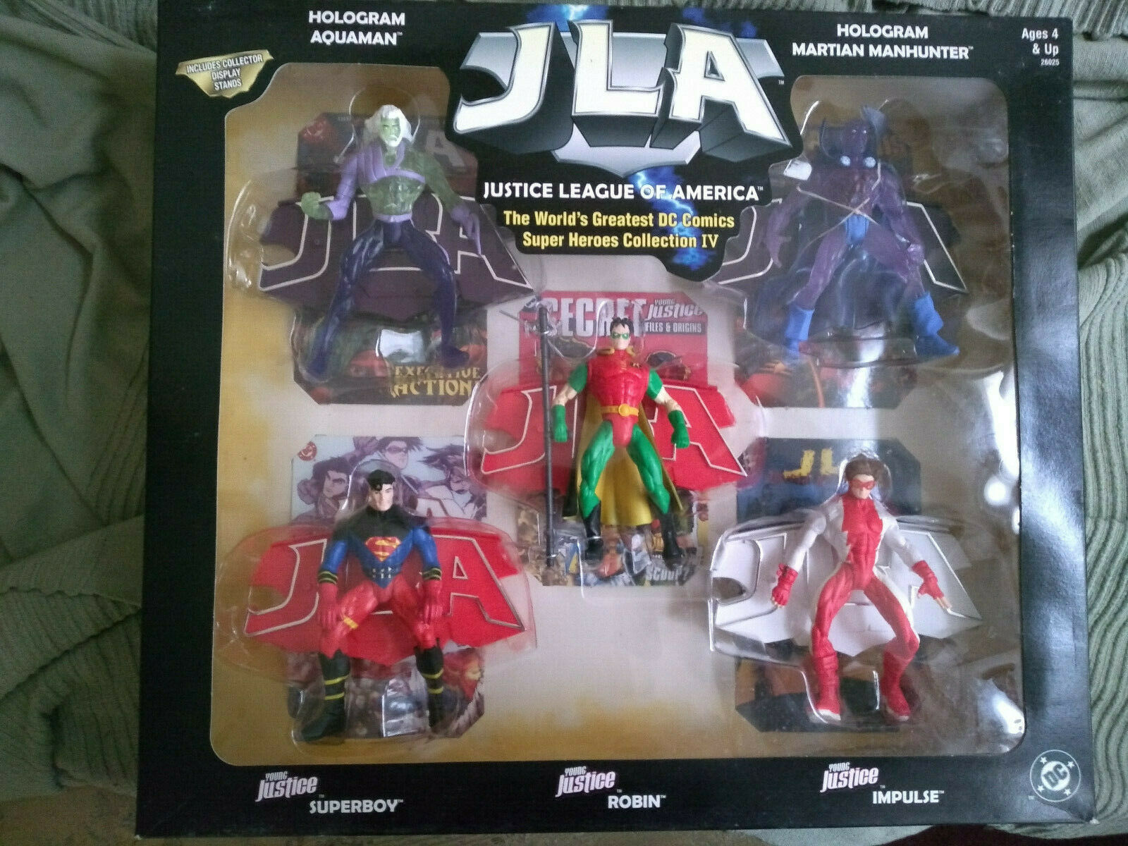 1999 99 DC HASBRO JLA JUSTICE LEAGUE SUPER HEROES COLLECTION 4 robin superboy