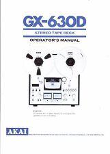 Akai  Bedienungsanleitung user manual owners manual  für GX-630 D