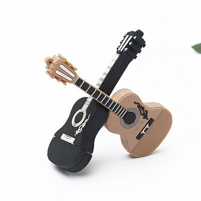 32GB Cute Mini Guitar Style USB 2.0 Flash Stick Memory Pen Thumb Drive Storage