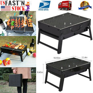 Portable-Barbecue-BBQ-Grill-Compact-Charcoal-Bars-Smoker-Hiking-Camping-Cooker-U