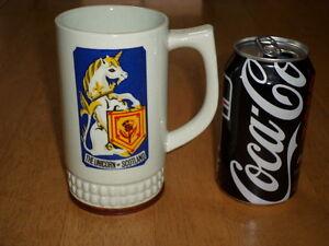 THE UNICORN of SCOTLAND, Ceramic Coffee Mug / Stein, Vintage Japan