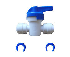 """1/4"""" x 1/4"""" Tube Ball Valve Quick Connect Fitting for  RO Water System"""