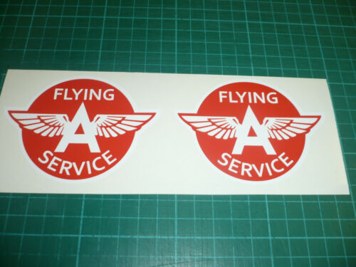 Pair Flying A Service Stickers