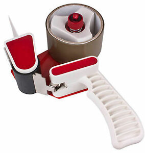 50mm-Heavy-Duty-Metal-Packing-Tape-Hand-Dispenser-Gun-2-Rolls-Free-Tape