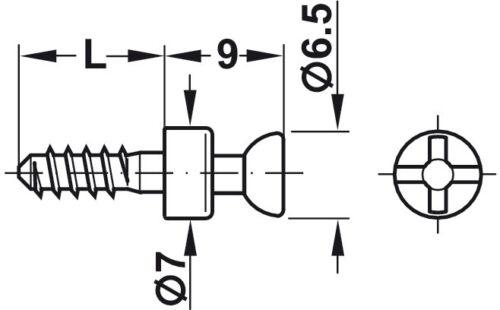 Connecting Bolt pour Ø 3 ou 5 mm Trous RAFIX S20 Bright-Acier