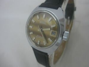NOS NEW SWISS VINTAGE AUTOMATIC ERNEST BOREL PRIMA WOMENS ANALOG WATCH 1960'S