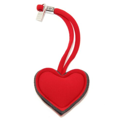 0097U portachiavi CHARM donna SAVE MY BAG CUORE rosso red keyring woman