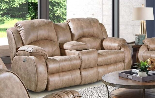 Peachy Southern Motion Cagney Power Headrest Double Reclining Console Loveseat In Bro Alphanode Cool Chair Designs And Ideas Alphanodeonline