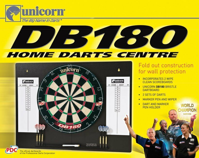 Unicorn DB180 Home Darts Center Dartboard (Steel Dart) Dartpfeile Check-Darts