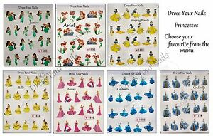 Image Is Loading Princess Nail Art Stickers Disney Cartoon Water Decals