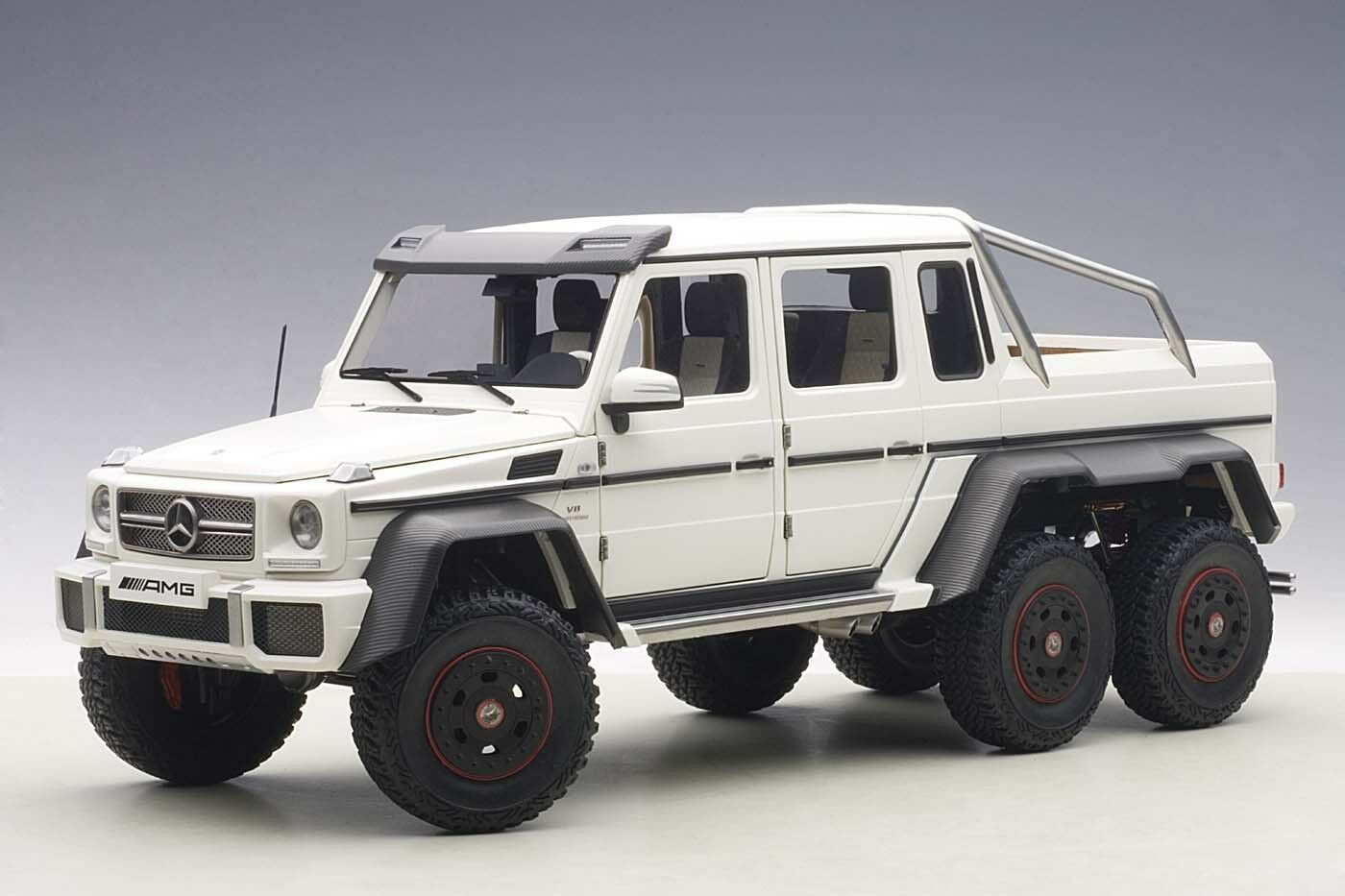 MERCEDES-BENZ G63 AMG 6X6 MATT WHITE 1 18 AUTOART 76303 BRAND NEW RELEASE IN BOX