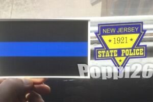NJ NJSP New Jersey State Police OFFICIAL Window Face//Out Decal Blue Line Sticker