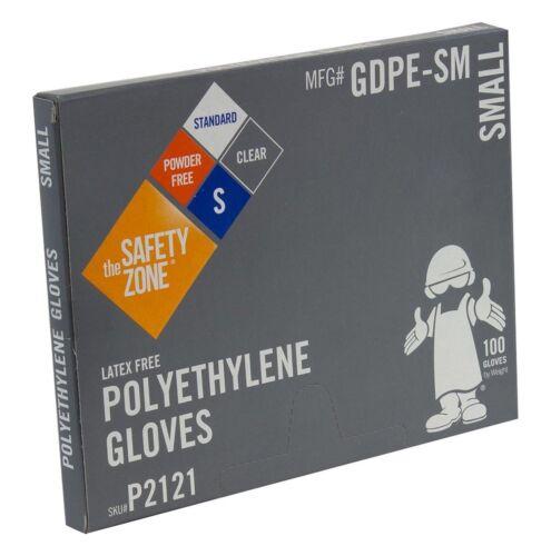 Safety Zone GDPE-LG//P2163 High Density Clear Polyethylene Glove-Large 2 Pack