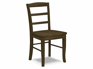 Image Is Loading Yukon Ladder Back Chair Rustic Solid Wood Kitchen