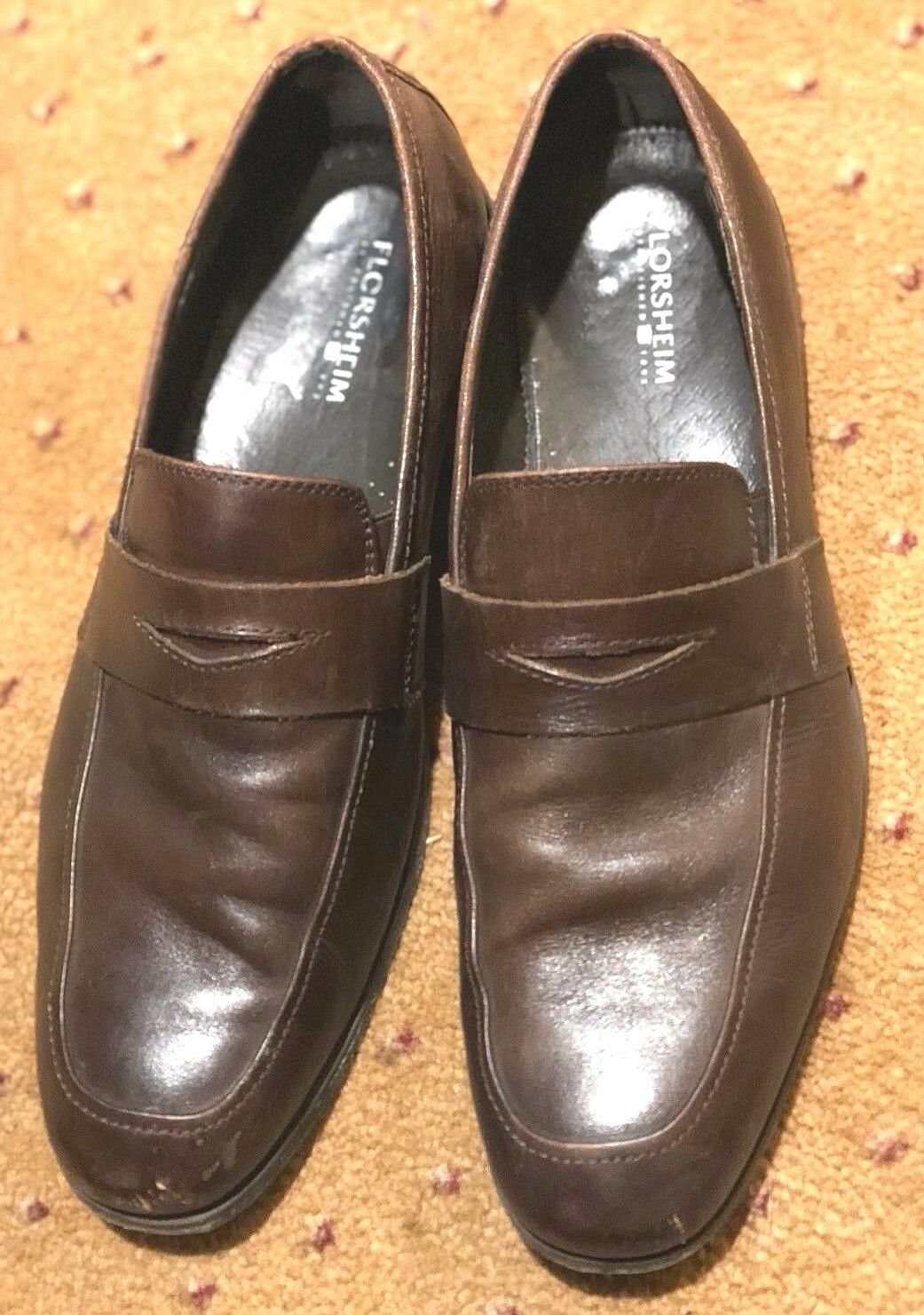 Florsheim Shoes 11 Penny Loafers Wingtip Men's 11 Shoes D Hickory Brown Leather 2b4955