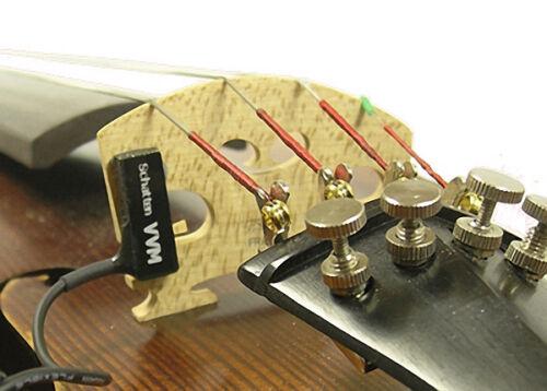 Schatten VVM-2 Pro Violin//Viola Stick-on Pickup w//Side-Mount Jack Volume NEW!