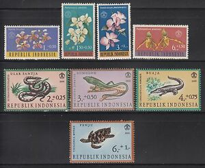 Indonesia 1962-1966 Two Mint Never Hinged Sets