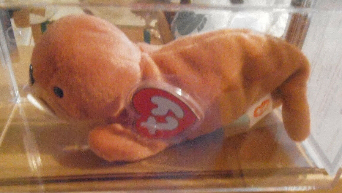 MWMT MQ Authenticated Ty 3rd Gen Tusk Beanie Baby 3rd Hang 2nd Tush