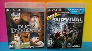 Cabela-039-s-Survival-Duck-Dynasty-Game-Lot-Sony-PlayStation-3-PS3-Tested