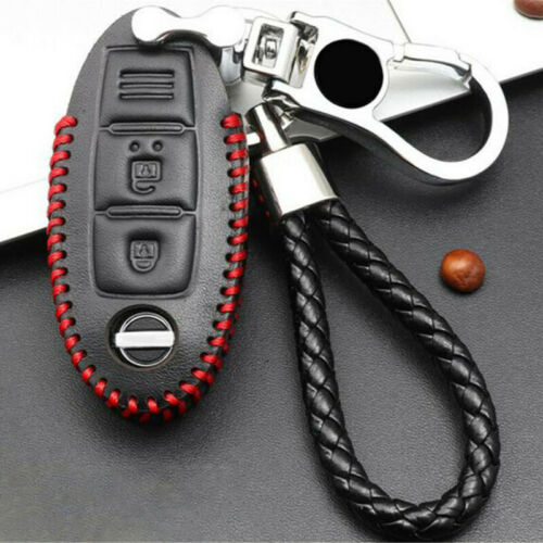 For Nissan Altima 2018-2019 Leather Key Bag Case Holder Cover Remote W// Keychain