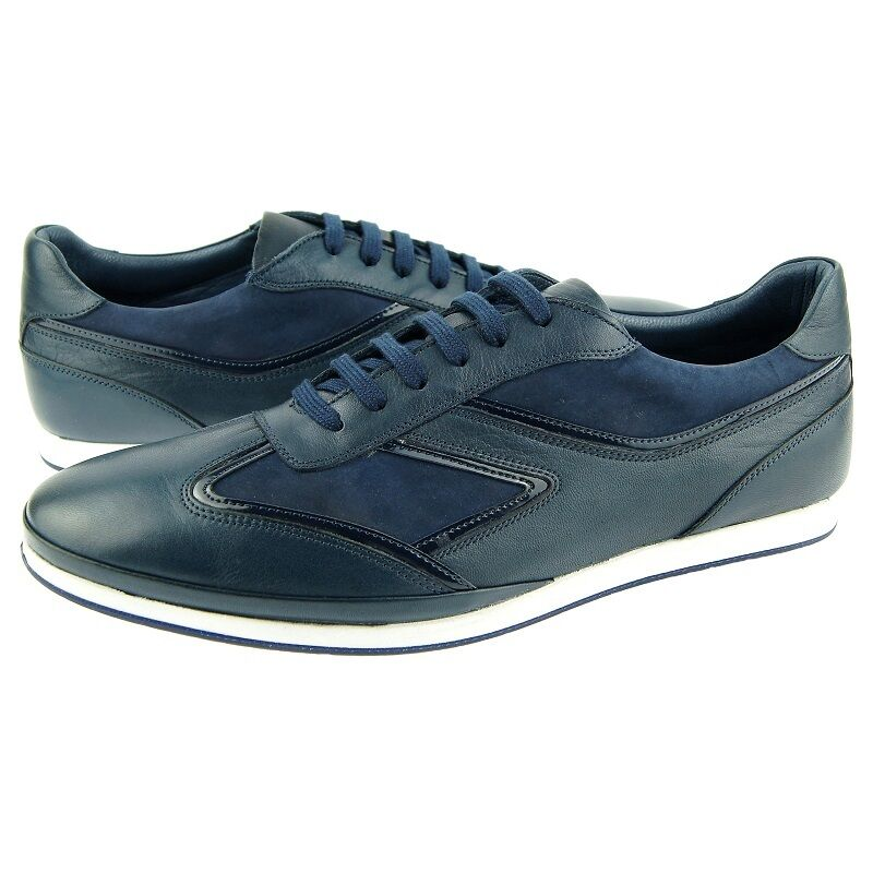 Charles Stone 1974 Sneaker, Men's Sport/Casual Leather Shoes, Navy Blue