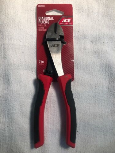 Ace 7 in Alloy Steel Diagonal Pliers Red 1 pk NEW FREE SHIPPING
