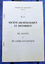 Extrait du Bulletin de la Société Archéologique et Historique de Nantes,tome 125