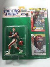 1993 David Klingler Cincinatti Bengals Kenner SLU Starting Lineup NFL figure