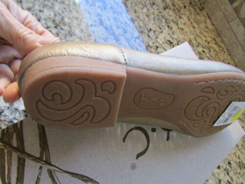 NEW BORN B.O.C GOLD FLATS LOAFERS SHOES WOMENS 8.5 COSIMA LEATHER FREE SHIP