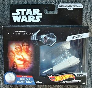 Hot-Wheels-Star-Wars-Commemorative-Series-Darth-Vader-039-s-Tie-Fighter-Sealed